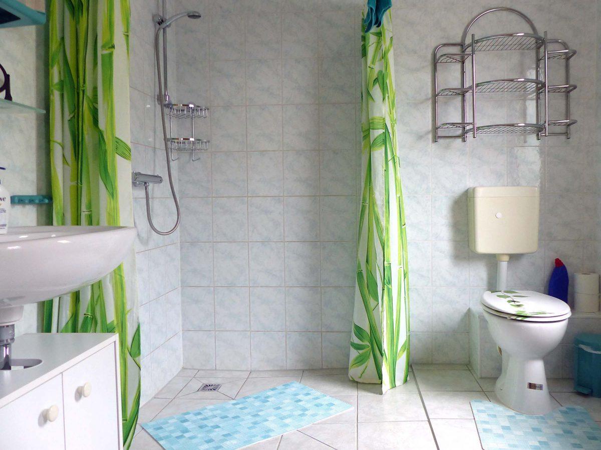Bad mit ebenerdiger Dusche - Fewo5
