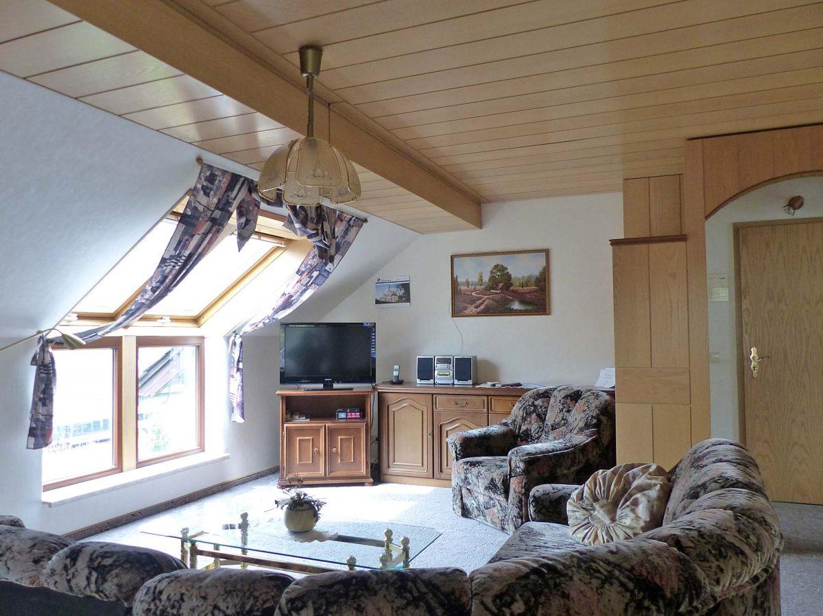 Wohnzimmer unterm Dach - Fewo 6